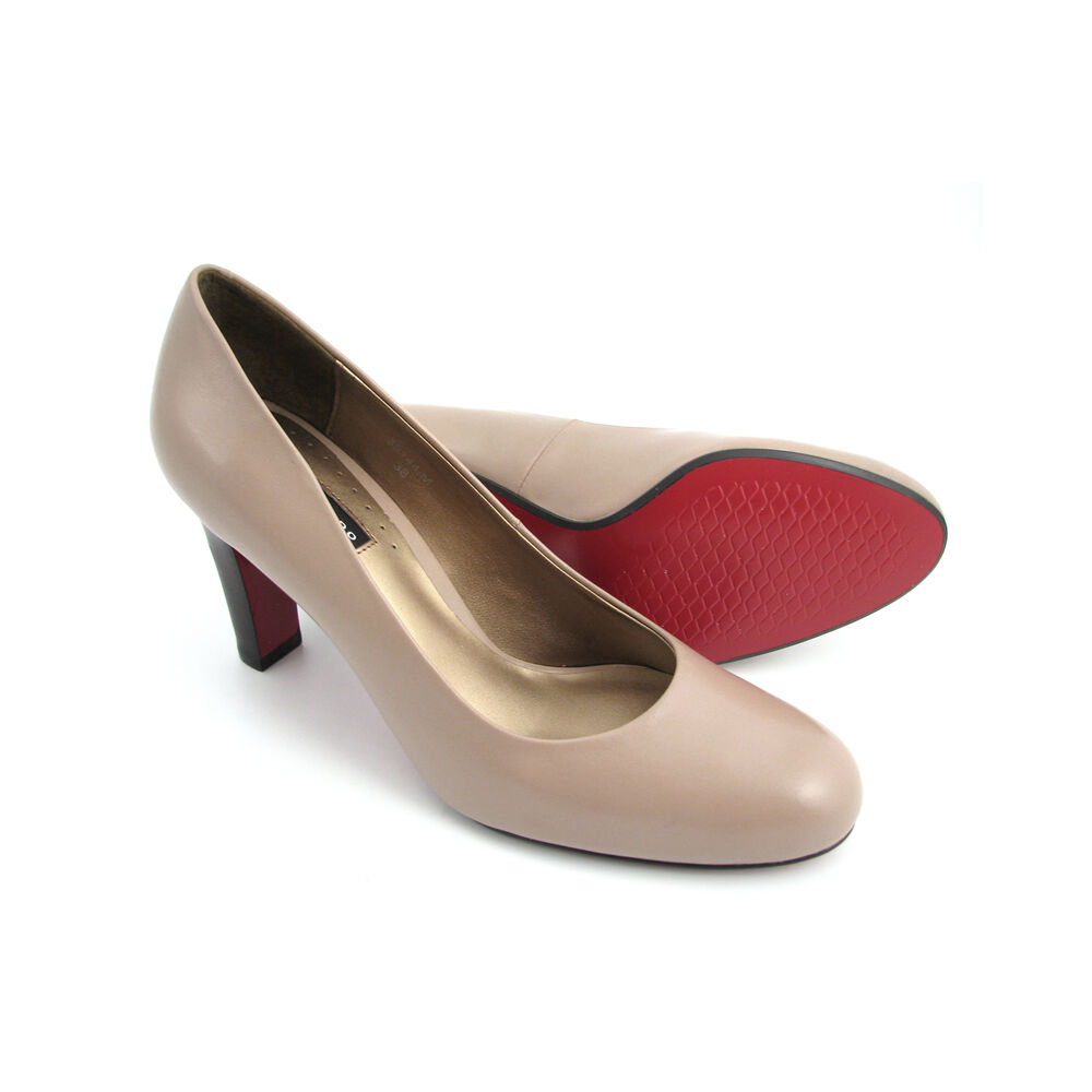 Rot60Off Outlet BeigeSohle Shop High Belmondo Heel Im Pumps Yb6gvIf7y