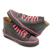 VALMY MODA Hi-Sneaker Grau-Pink Neon