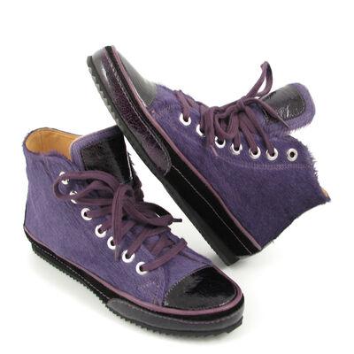 VALMY MODA Fell-Sneaker Lila/Violett Bootie