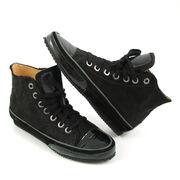 VALMY MODA Fell-Boots m. Schnürung Schwarz (Pony Hi-Sneaker)