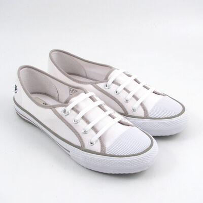 Tom Tailor Sneaker Canvas/Leinen, Weiss (White)