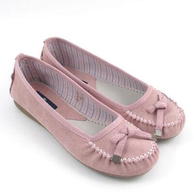Tom Tailor Mokassin/Ballerina/Slipper Pink-Rosa Veloursleder