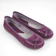 Tom Tailor Ballerina-Mokassin Lila-Purple Wildleder
