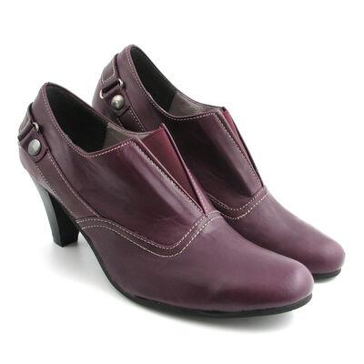 Andrea Conti Hochfrontpumps Lila/Purple, Leder
