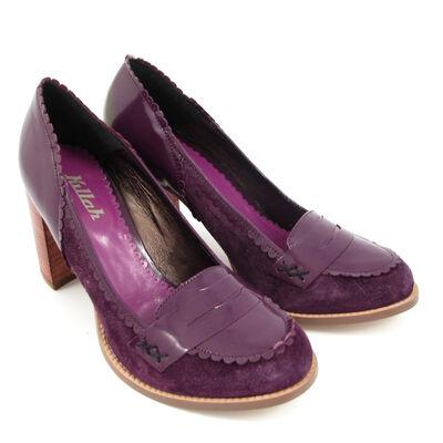 Killah Pumps »Betty« Purple/Lila, Wildleder-Lack