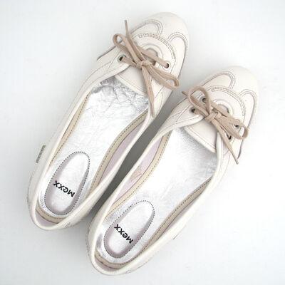 MEXX / Leder-Ballerina Weiss Mod. »UNIQUE«