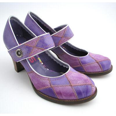MJUS Spangenpumps Lila-Violett
