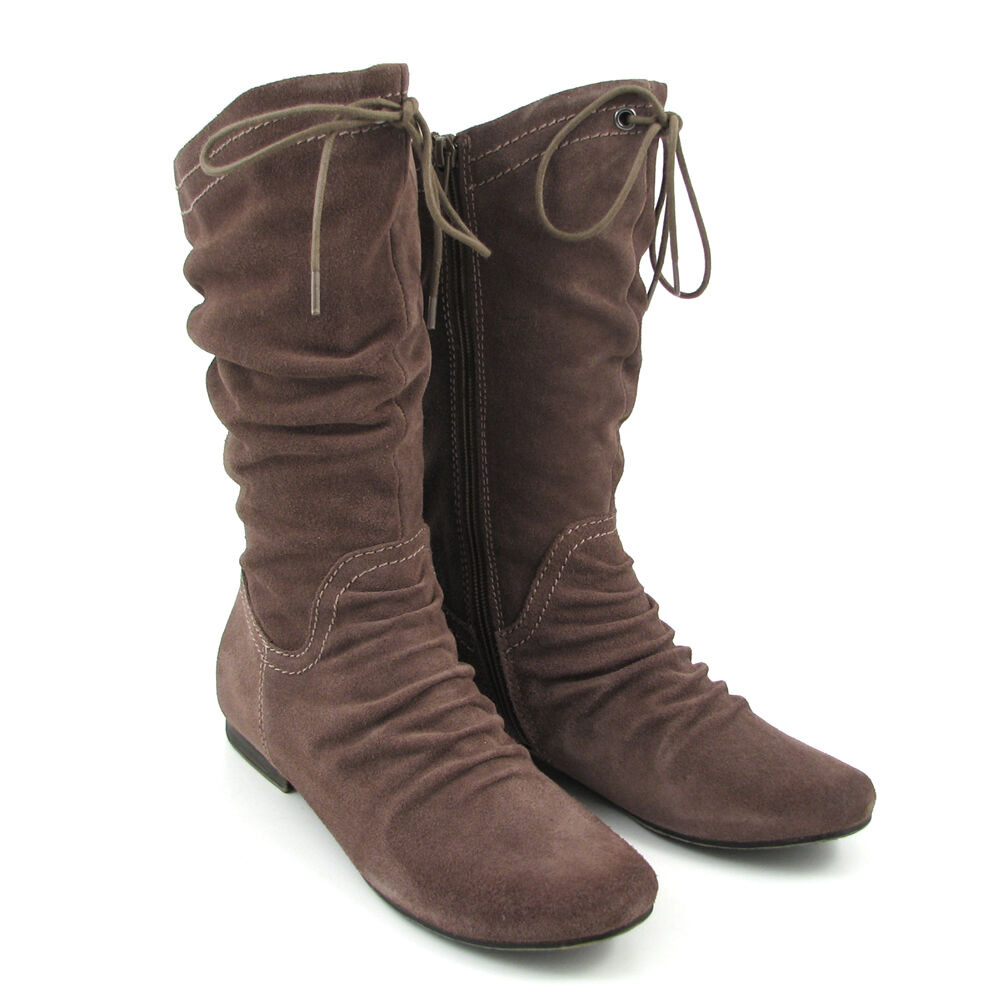 best website 815fb 60439 Marco Tozzi Stiefel Taupe-Braun, Flat Boots | 81% OFF im ...