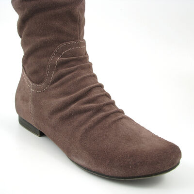 Marco Tozzi / Stiefel Taupe-Braun, Flat Boots