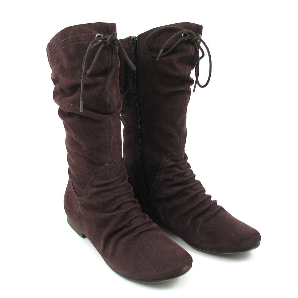 marco tozzi stiefel dunkelbraun flat boots wildleder 71 off im outlet shop. Black Bedroom Furniture Sets. Home Design Ideas