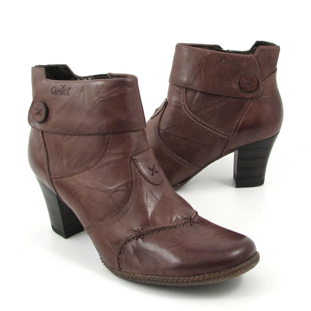 caprice stiefeletten braun pepper ankle boots 50 off im. Black Bedroom Furniture Sets. Home Design Ideas