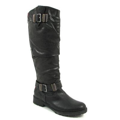 s.Oliver Bikerstiefel Schwarz - Boots Black