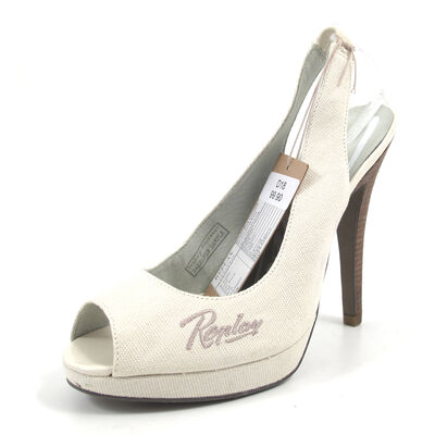 REPLAY TRAVE OFF WHT -  Slingpumps weiss Peeptoes