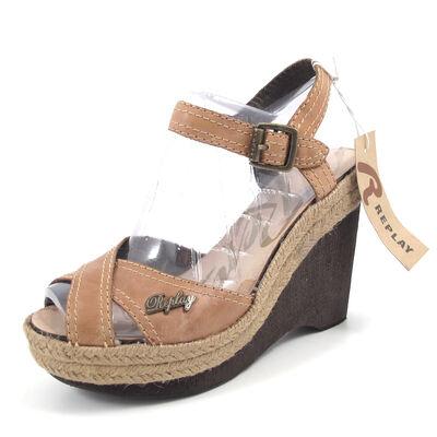 REPLAY / GREN TAN  - Sandalette Wedges braun