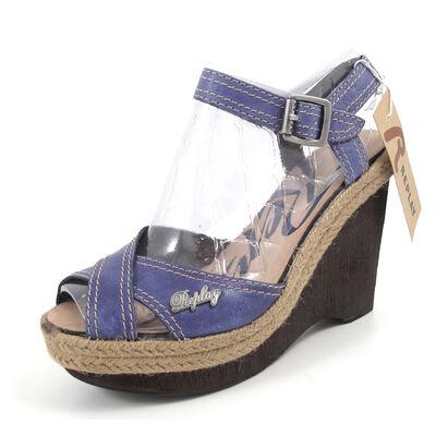 REPLAY GREN BLUE  - Sandalette Wedges Blau