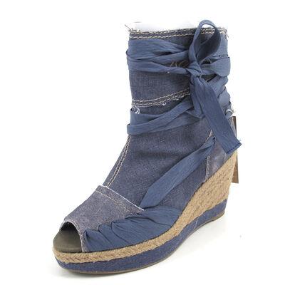REPLAY WENDA  NAVY -Sandaletten Wedges Blau