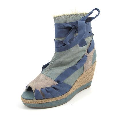 REPLAY BET  LT. DENIM -Sandaletten Wedges Blau