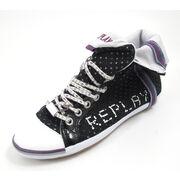 REPLAY BROOKE PERFED BLACK - Sneaker Schwarz