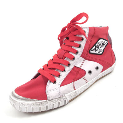 REPLAY WAS CANVAS RED - High Sneaker Rot