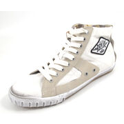 REPLAY WAS CANVAS WHITE - High Sneaker Royal Weiss