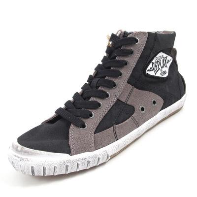 REPLAY WAS CANVAS BLACK - High Sneaker Schwarz