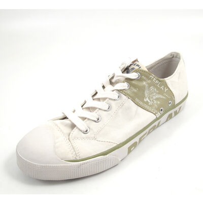 REPLAY LEVIED OFF WHT BEIGE - Sneaker Weiss