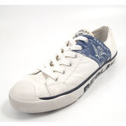 REPLAY LEVIED WHITE NAVY - Sneaker Weiss