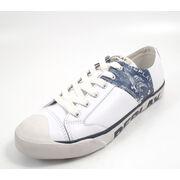 REPLAY ROBBIE WHT NAVY - Sneaker Weiss