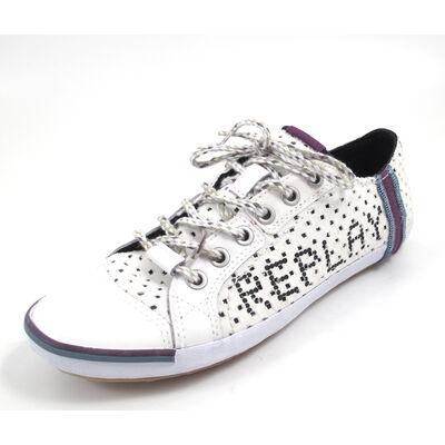 REPLAY BRIDGETTE PERFED WHITE - Sneaker Weiss