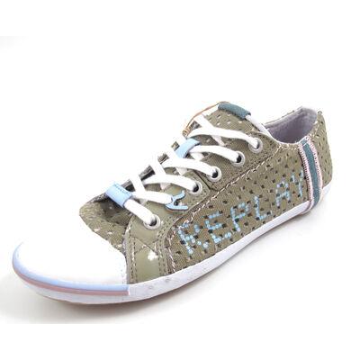 REPLAY BRIDGETTE PERFED OLIV - Sneaker Oliv