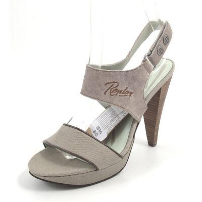 REPLAY OPERA  LT GREY - Sandalette Gra