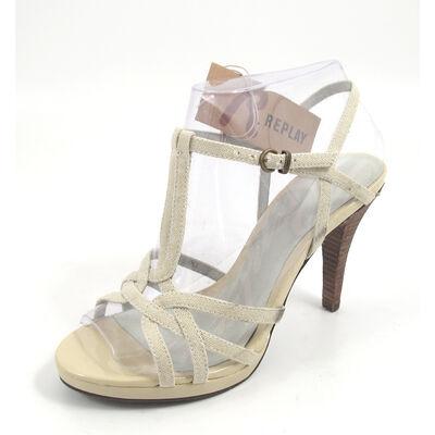 REPLAY ANGO BEIGE - Sandalette Beige