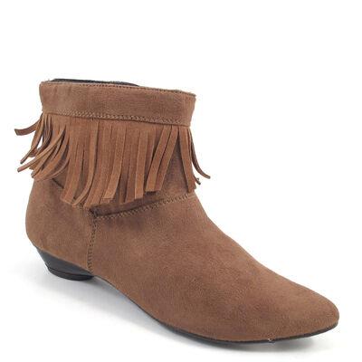 Marco Tozzi Stiefelette mit Fransen Braun/Muscat - Ankle Boots günstig