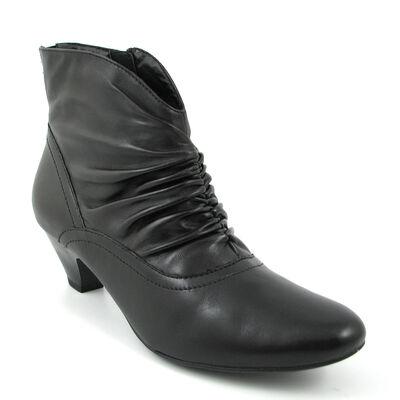 Marco Tozzi Ankle Boots Schwarz - Lederstiefelette Black