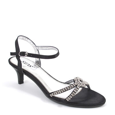 SDS Sandalette mit Strass-Steinen Schwarz