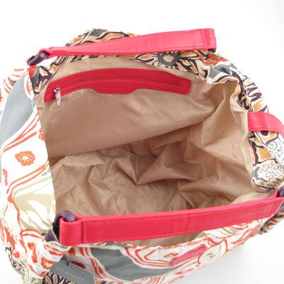 Belmondo / Beuteltasche Beachbag Rot m. Blümchen-Muster