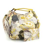 Belmondo Beach-Tasche Strandtasche Gelb m. Blumenmuster