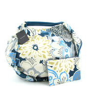 Belmondo Strandtasche Blau, Tasche Beach-Bag Blau m. Blumen