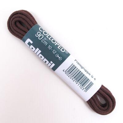 Collonil Schnürsenkel 90cm Dunkelbraun -  dünne Rundsenkel 2-3mm Durchmesser 10-12 Loch-Schnürung