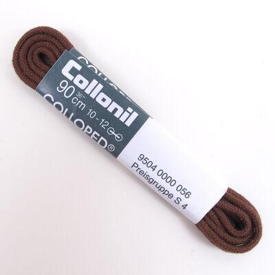 Collonil Schnürsenkel 90cm Braun/Mittelbraun -  dünne Rundsenkel 2-3mm Durchmesser 10-12 Loch-Schnürung