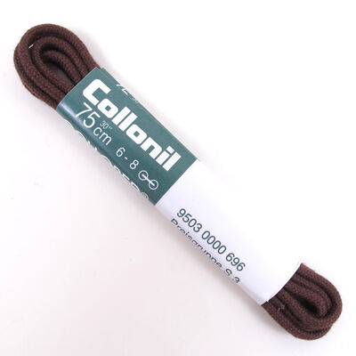 Collonil Schnürsenkel 75cm Dunkelbraun -  Kordelsenkel/Rundsenkel 2-3mm Durchmesser 6-8 Ösen/Löcher