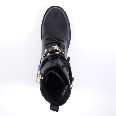 Marco Tozzi / Boots Black/Gold - Schnürboots mit goldenen Ketten und Nieten