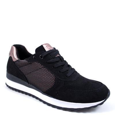 Marco Tozzi Sneaker Schwarz/Bronze - Damen Schnürschuhe Black/Copper