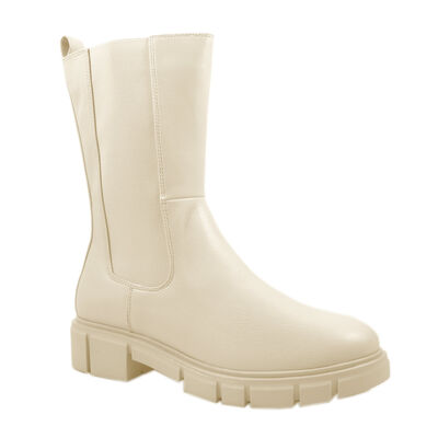 Marco Tozzi Chunky Boots Beige, Chelsea Boots Cream, Plateaustiefelette