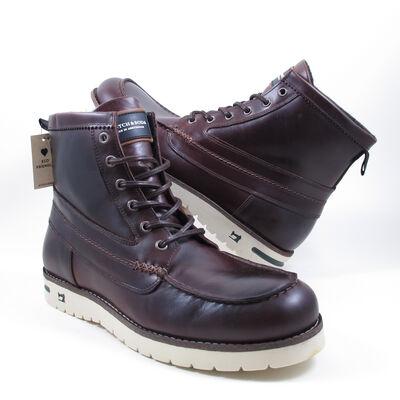 SCOTCH & SODA LEVANT DARK BROWN - Leder Boots/Schnürstiefel Braun